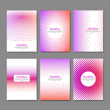 deisgn: Dotted flyer deisgn template. Brochure cover book layout  mockup. Illustration