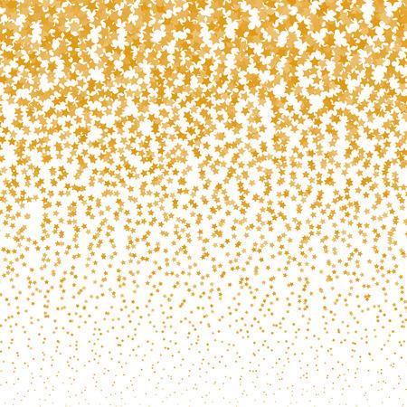 Vector falling stars halftone background. Golden Falling stars design template.