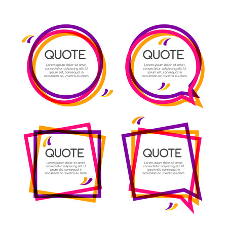 cite: Vector set quote frame, colorful quote frames for modern design.