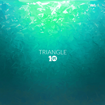 Vector Abstract triangle underwater background, abstract texture, aqua backdrop, abstract ocean sea background.