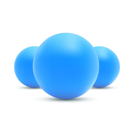 blue sphere: Set of realistic Blue balls. Blue sphere vector illustration.
