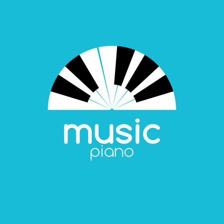 logo music: Vector minimalistic music piano logo. Music trendy symbol.