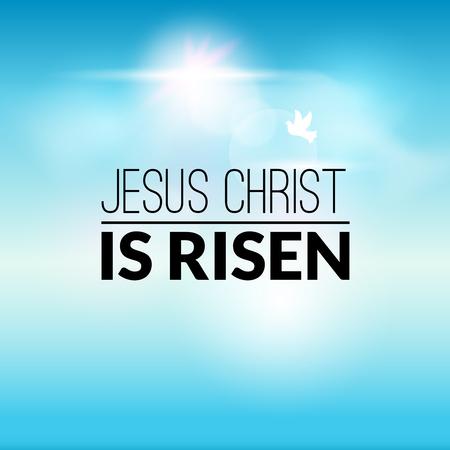 christ is risen easter: Easter christian celebration Jesus Christ is risen vector background.