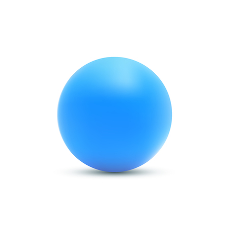 Blue ball. Blue sphere vector illustration isolated on white Vectores