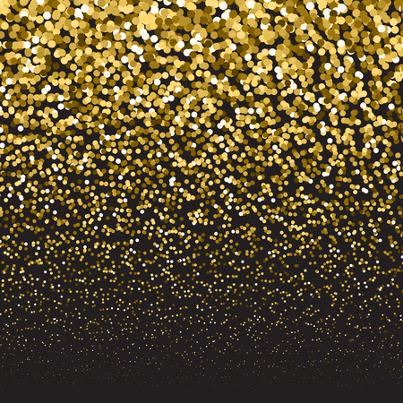 festive background: Golden luxury glitter falling particles. Festive background.