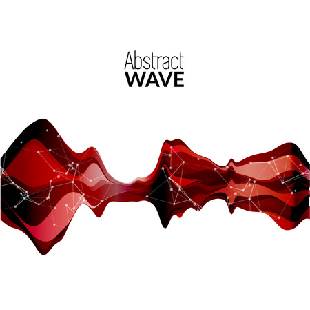 soundtrack: Abstract musical wave background. Vector sound wave element.