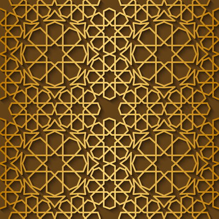 arabic gold: Arabic pattern gold style. Traditional east geometric decorative background