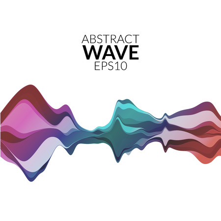 wave: Abstract musical wave background. Vector sound wave element.