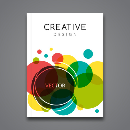 Vector Poster Flyer Template. Abstract colorful Background for Business Flyers, Posters and Placards. Brochure tamplate. Stok Fotoğraf - 58052287