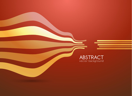 curve: Vector abstract curve lines background for business. Illustration