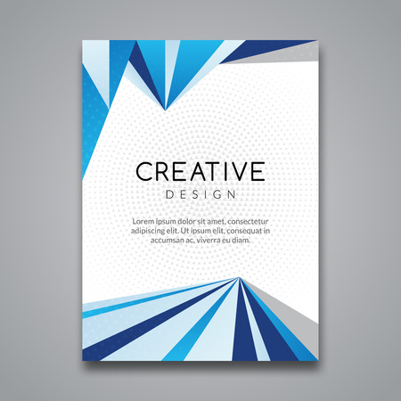 Business report design, flyer template, background with colorful lines. Brochure Cover flyer template mockup layout, vector. 向量圖像