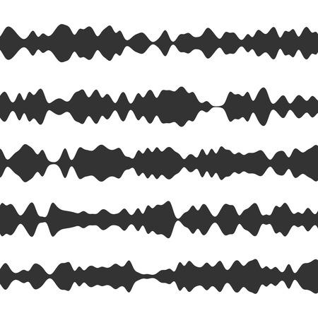 waveform: Sound recorder set. Equalizer music wave. Soundtrack waveform