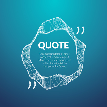 double page: Technology quote poster. Place for quote template. Illustration