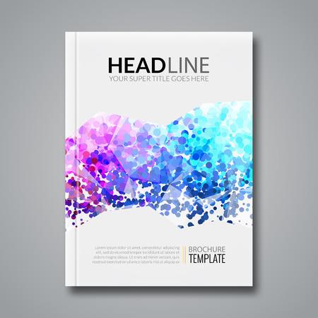 Geschäftsbericht Design, Flyer Vorlage, Hintergrund Mit Bunten ...
