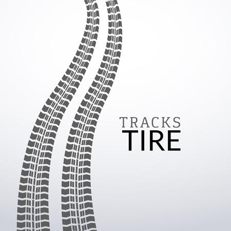 pneumatici vettore tracce su elementi isolati bianco per il design.