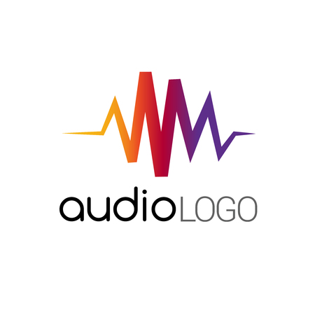logo music: Music Logo concept sound wave, studio, music