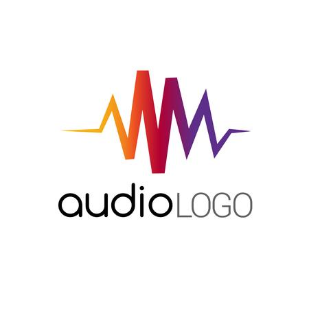 Music Logo concept sound wave, studio, music
