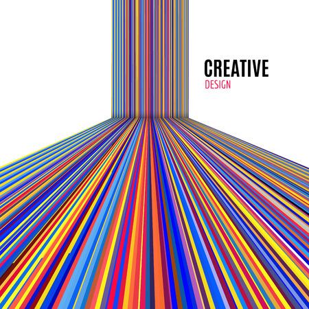 Resumen de vectores de fondo de líneas rectas. Fondo de diseño moderno y colorido.