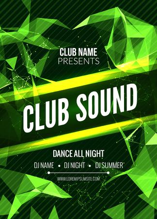 Modern Template Club Partij van de Muziek, Dance Party Flyer, brochure. Night Party Club geluid Poster van de Banner