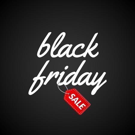 Black Friday Calligraphic lettering retro poster sign. Label design template. Retro Sale Discount for market.