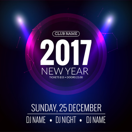 new year party design event celebration template new year festive poster invitation 2017 stock
