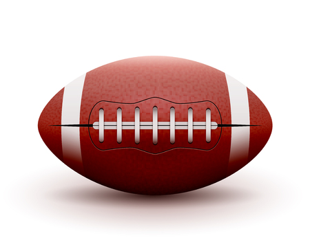 pumped: American Football ball isolated on white background. Vector illustration rugby sport game. Competition team.