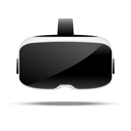 Stereoskopische 3d vr Abbildung. Virtuelle digitale Cyberspace-Technologie des Vektors. Innovationsgerät. Vektorgrafik