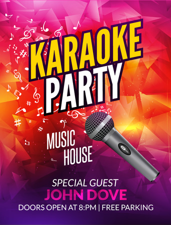 Karaoke party invitation poster design template karaoke night 68591208 karaoke party invitation poster design template karaoke night flyer design music voice concert stopboris Choice Image