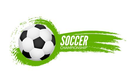 grunge banner: Soccer football poster design template. Soccer grunge banner football.