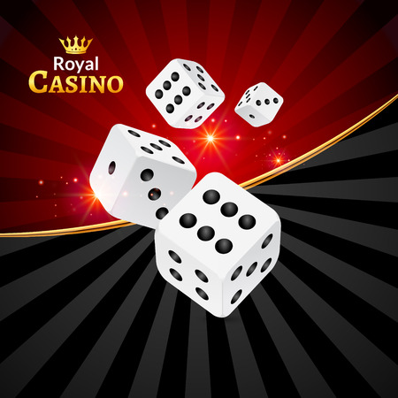 Dice vector casino design background. Dice gambling template concept. Casino background. Illustration