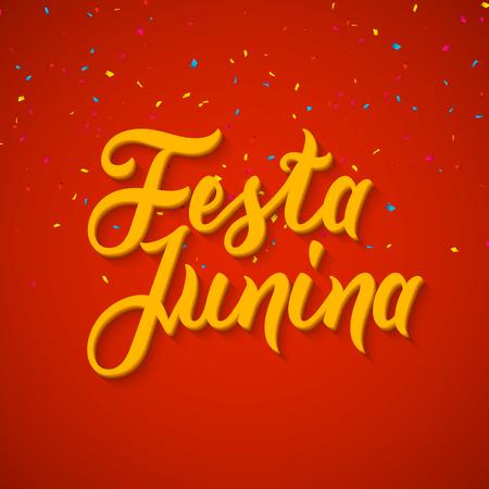 banger: Festa Junina celebration poster. Brazilian festa decoration flye design template. Illustration