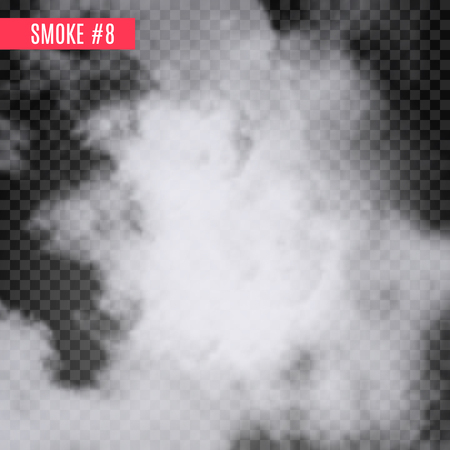 special effect: Vector smoke special effect on transparent. Fog isolated design background. Smoky effect Illustration