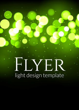 defocus: Poster design template with bokeh light effect. Vector modern card concept. Holiday design template for concert or show party Illustration