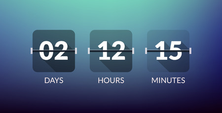 count down: Flip Countdown timer vector clock counter. Flat count down day vector business sign.