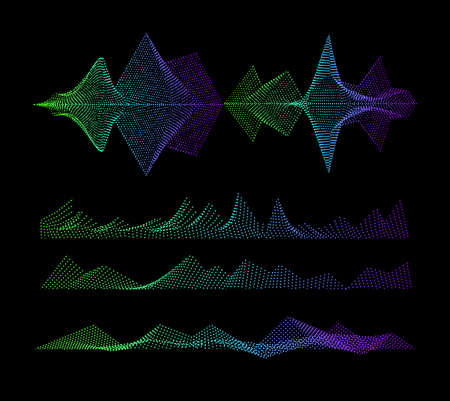 waveform: Vector Sound equalizer, colorful musical concept. Audio wave digital design waveform. Illustration