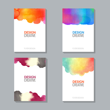 splash abstract: Vector Poster Flyer Templates with Watercolor Paint Splash. Abstract Background for Business Documents, Flyers, Posters and Placards