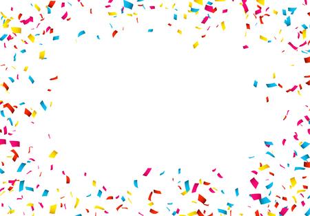 Colorful Confetti isolated on white. Confetti explosion. Ilustrace