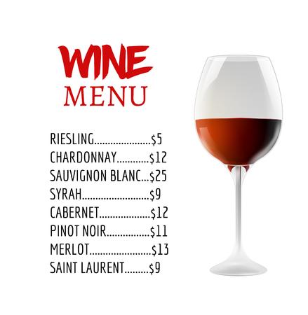 Wine Menu Card Design Template. Wine List Template Layout. Royalty ...