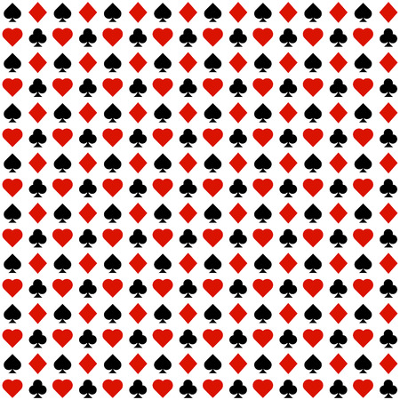 Abstract play cards symbol seamless pattern. Casino playing cards symbol concept background.