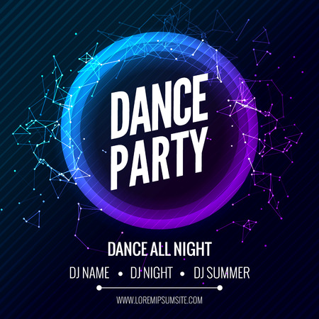 Modern Club Music Party Template, Dance Party Flyer, brochure. Night Party Club Banner Poster Иллюстрация