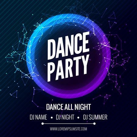 Modern Template Club Partij van de Muziek, Dance Party Flyer, brochure. Night Party Club Poster van de Banner