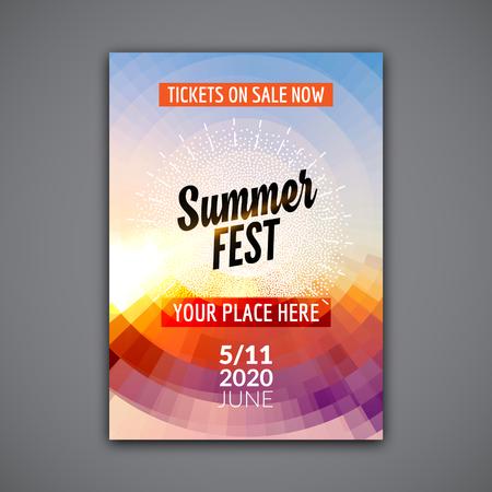 Summer Festival Flyer Design Template Summer Poster Flyer Template