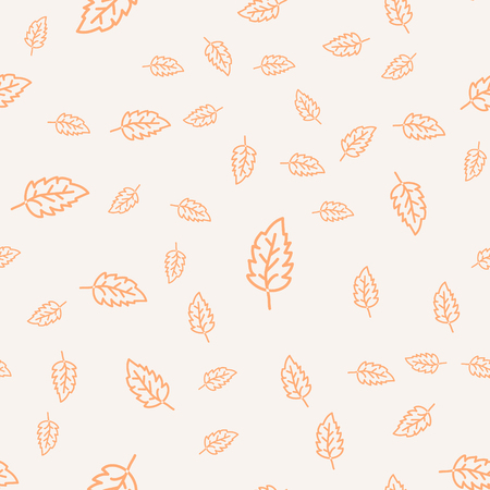 Seamless leaves pattern. Stylized leaf decirative design background. Seamless leaf design.