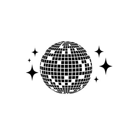 Icono de Vector de bola de discoteca. Pelota de club aislado para la fiesta. Elemento de decoración disco