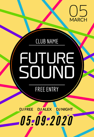 Modern Club Music Party Template, Dance Party Flyer, Brochure. Night ...
