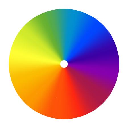 Color wheel vector spectrum. Colorful circle rainbow design. Creative saturation palette. Graphic illustration.