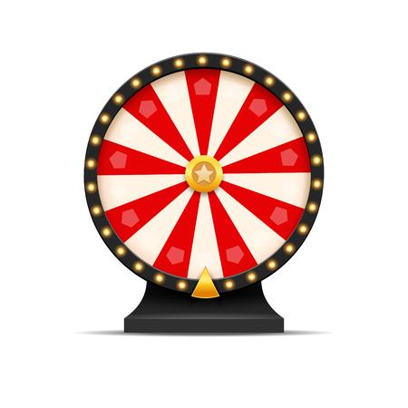 Illustrazione della fortuna della lotteria della rotella della fortuna. Casinò di gioco del casinò. Vinci la roulette fortuna. Possibilità di gioco per il tempo libero.