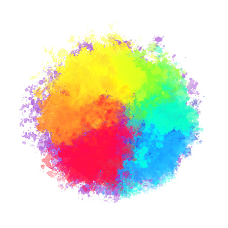 Abstract colorful watercolor background. Ink art design splatter.
