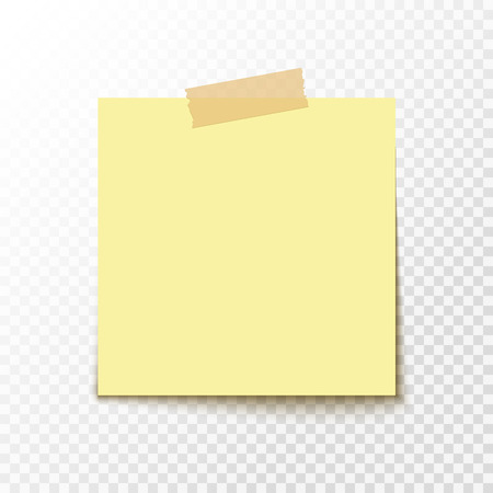 tack: Adhesive note sticker. Blank office paper for notice. Empty paper sticker. Illustration