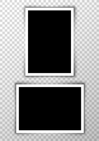 ベクトル写真フレーム画像の背景。写真アルバムのデザインを枠線です。イメージ要素空のレトロなフレーム。